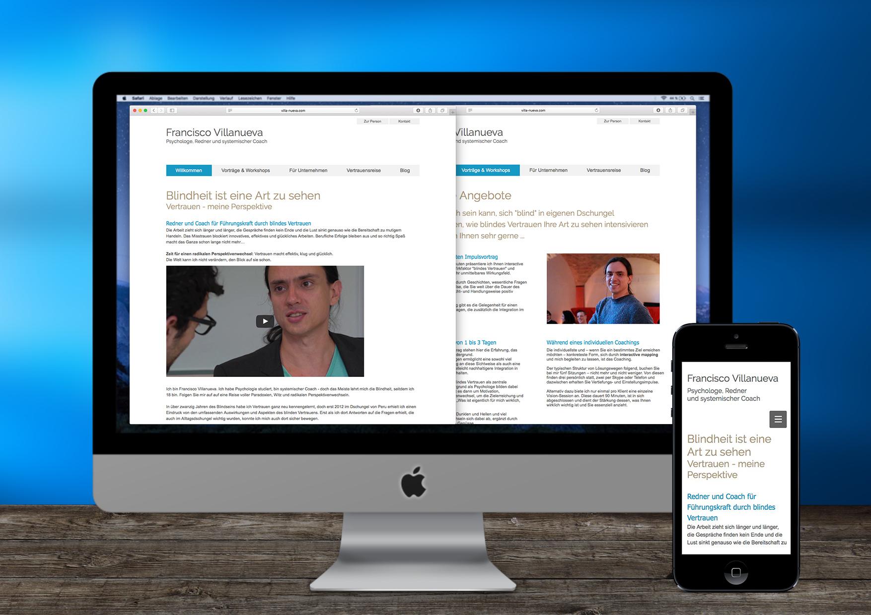 Webseite von Francisco Villanueva